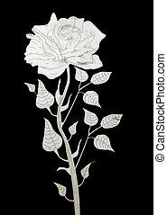 kivágott, rózsa