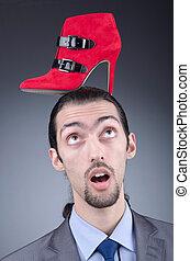kiválasztás, cipők, ember