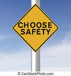 kiválaszt, biztonság