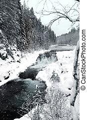 Kivach waterfall in Karelia, Russia