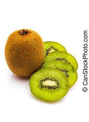 kivi fruit isolated on white background