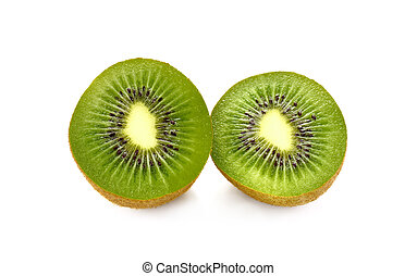 kivi fruit on white background