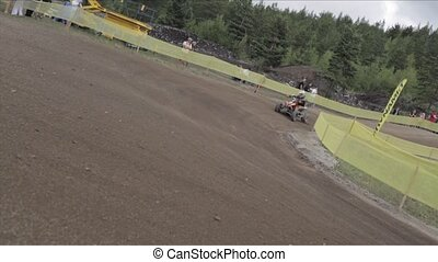 Kivioli motocross quadbike - KIVI?LI, ESTONIA - AUGUST 14:...