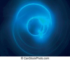 kivonat tervezés, kék, energia, örvény