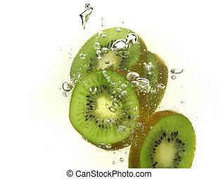 kiwi, éclaboussure