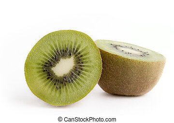 Kiwi - A kiwi over a white backgroun