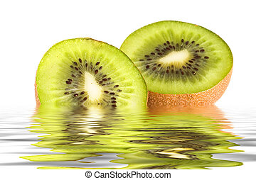 kiwi, acqua, fette