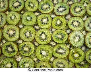 kiwi, afsluiten, grit, op, schijfen