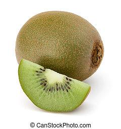 kiwi, aislado, Cortar, fruta, Plano de fondo, blanco, recorte