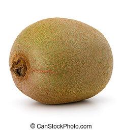 kiwi, aislado, fruta, plano de fondo, blanco, recorte