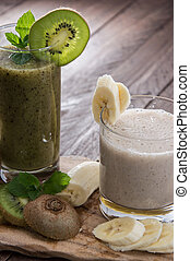 Kiwi- and Banana smoothie