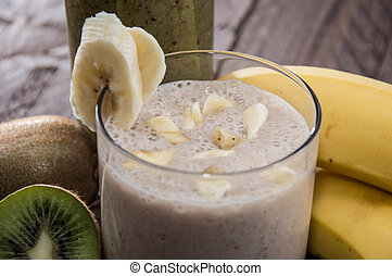Kiwi- and Banana smoothie