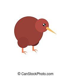 kiwi bird australia icon on white background