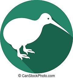 kiwi bird flat icon