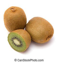 kiwi, blanco, fruta, aislado, plano de fondo