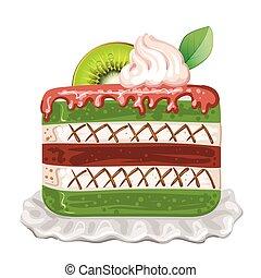 kiwi, bolo, branca, gostoso, fundo