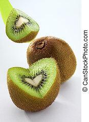 kiwi, coeur, bon, ton