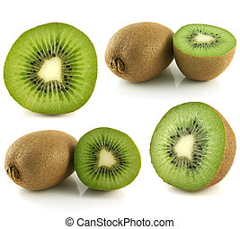 Kiwi collection isolated on white background (set).