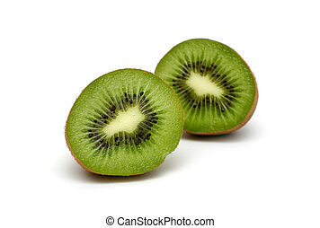 Kiwi - Cut kiwi isolated on white background.