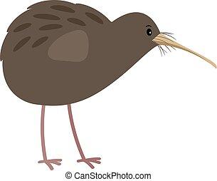 Kiwi cute cartoon bird icon