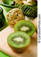 kiwi, dessert, scherpe raad