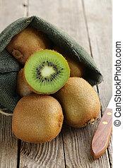 kiwi, doux, fruit, frais, mûre