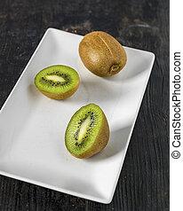 kiwi, fin, fruit, haut