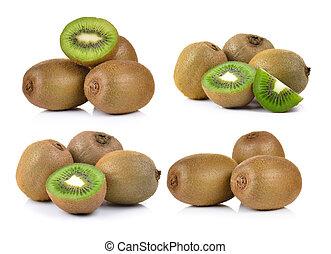 kiwi, fond blanc, fruit