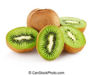 kiwi, frais, coupure