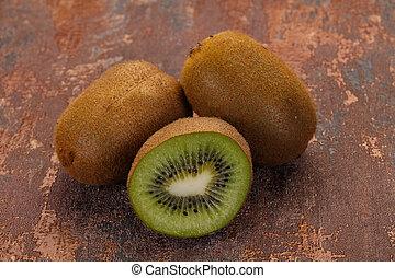 kiwi, frais, mûre