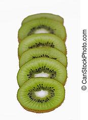 kiwi, frische frucht, scheiben