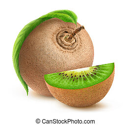 kiwi fruit, blad, vrijstaand