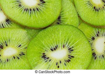 Kiwi fruit close up, background