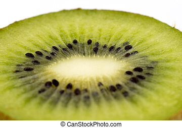 Kiwi fruit cuted in a half macro