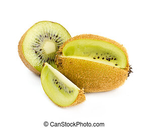 Kiwi fruit fresh on the white background