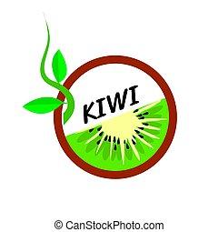 Kiwi Fruit icons flat style, Vector Illustration.