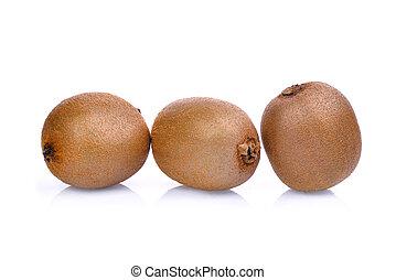 kiwi fruit isolated on white background.