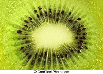 Kiwi slice close up