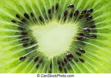 kiwi fruit macro texture