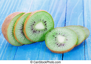 Kiwi fruit on the table