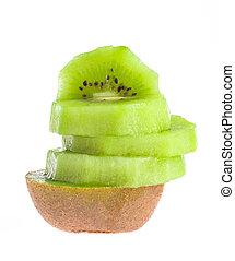 kiwi fruit, op, een, witte achtergrond