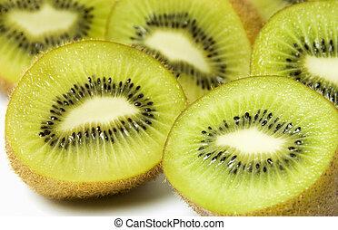 kiwi fruit, op wit, achtergrond
