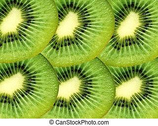 Kiwi fruit slices