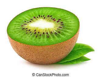 kiwi fruit, vrijstaand, helft