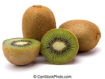 kiwi fruit, vrijstaand, op wit, achtergrond