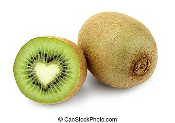 Kiwi fruit with heart shape