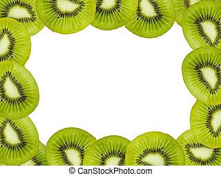 Kiwi fruits frame