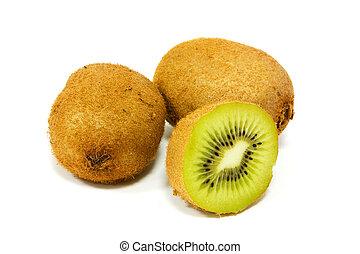 Kiwi fruits isolated on a white background