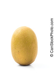 kiwi, gouden, witte , vrijstaand, achtergrond