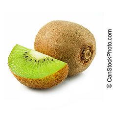 kiwi gyümölcs, friss, elszigetelt, fehér